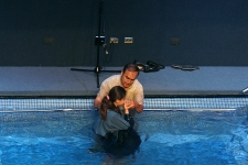 Maria Belén, the youngest daughter (12)years) getting baptized