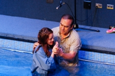 Fátima (14years old) getting baptized