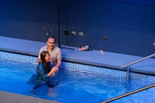 Joselyn , the oldest (14 years) getting baptized