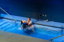 Adriana getting baptized
