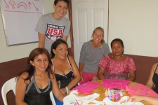 Danni & Joy spending time with the women at El Oasis