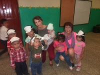 Deanna loving on the toddlers at Casita Benjamin