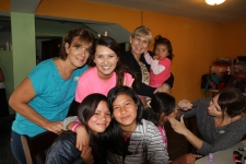 Janis, Bre & Betty having fun with the girls at Lily's Home for abused children