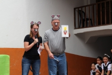 Andi & Jim sharing a skit about obedience