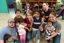 Loving on Pre- schoolers who live in the dump and surrounding area